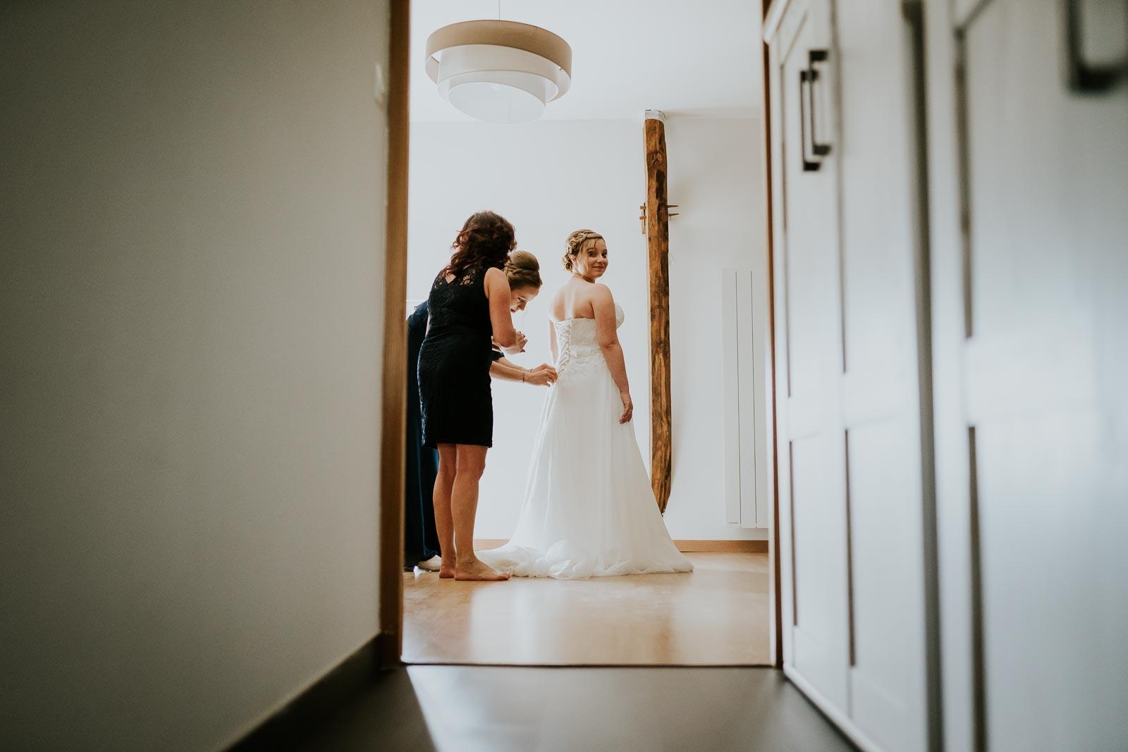 La mariée presque prête…