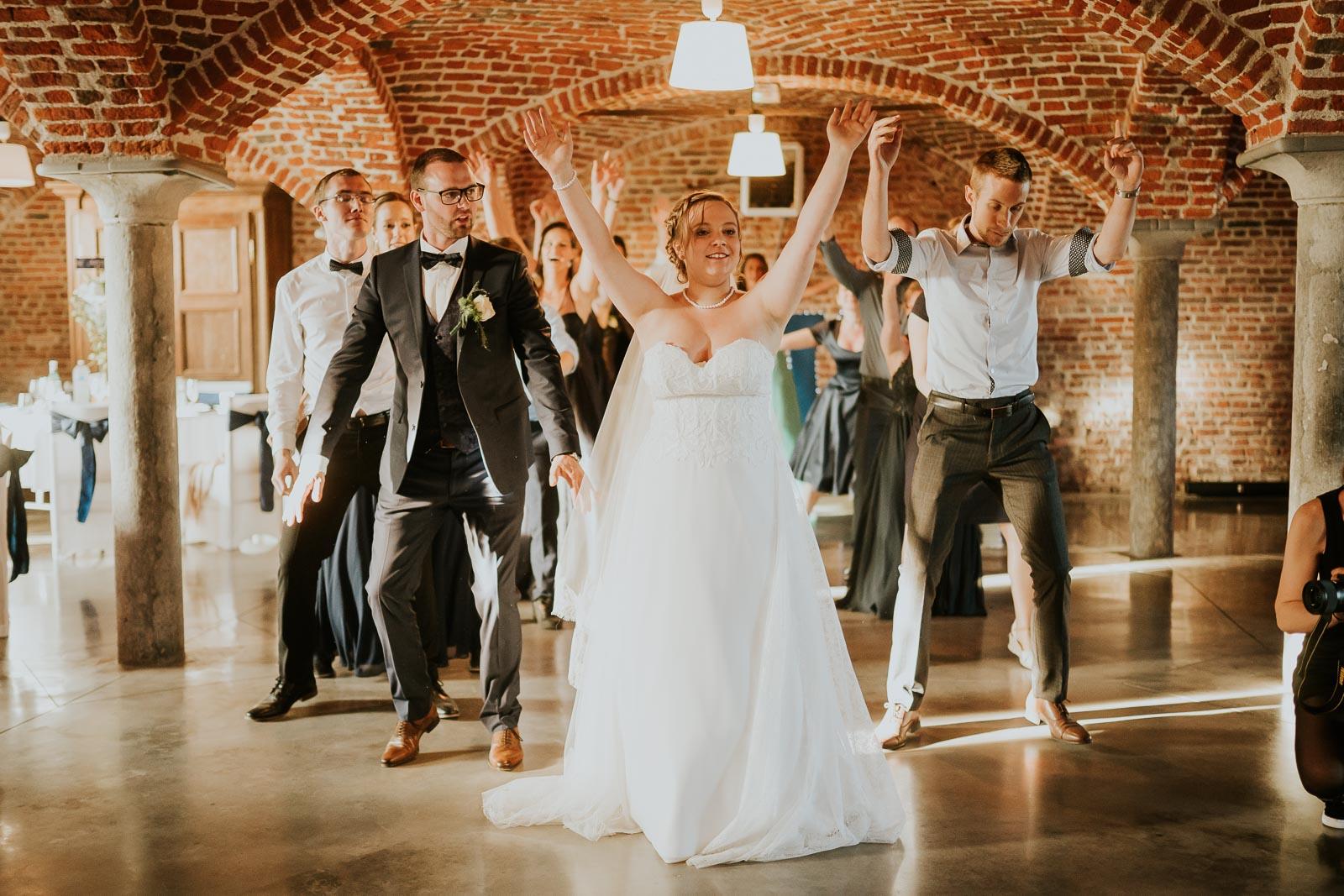 Flash-mob des mariés !