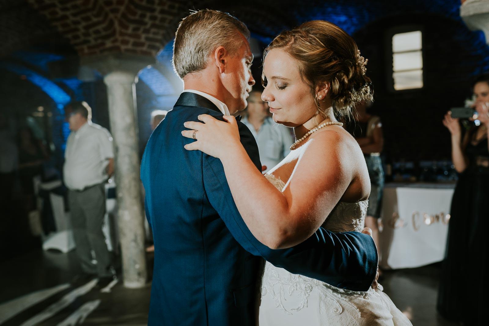 première danse avec le papa de la mariée, Etables de l'Aunelle.