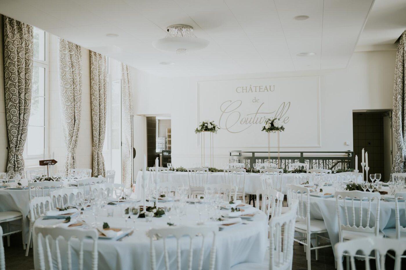 Salle de réception - Château de Couturelle.