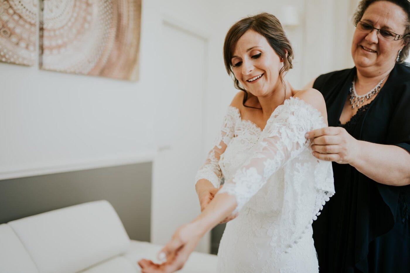 Le sourire revient - photographe de mariage.