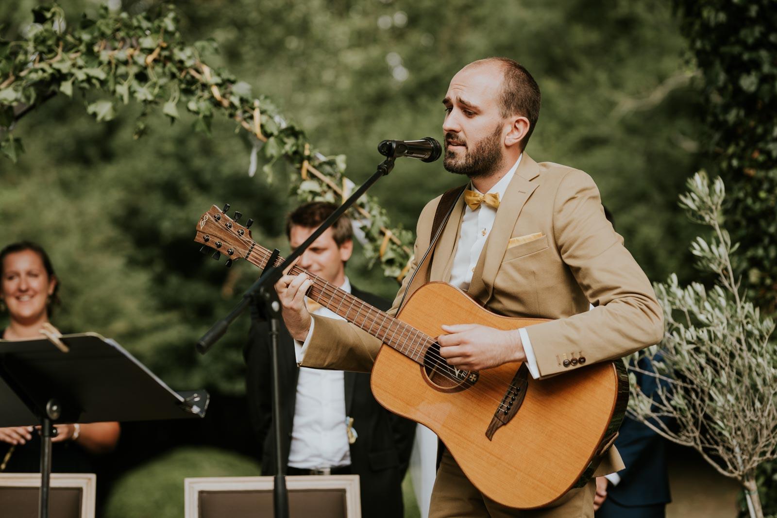 Voeux du marié en musique - Cérémonie laïque… Chateau de Morbecque…