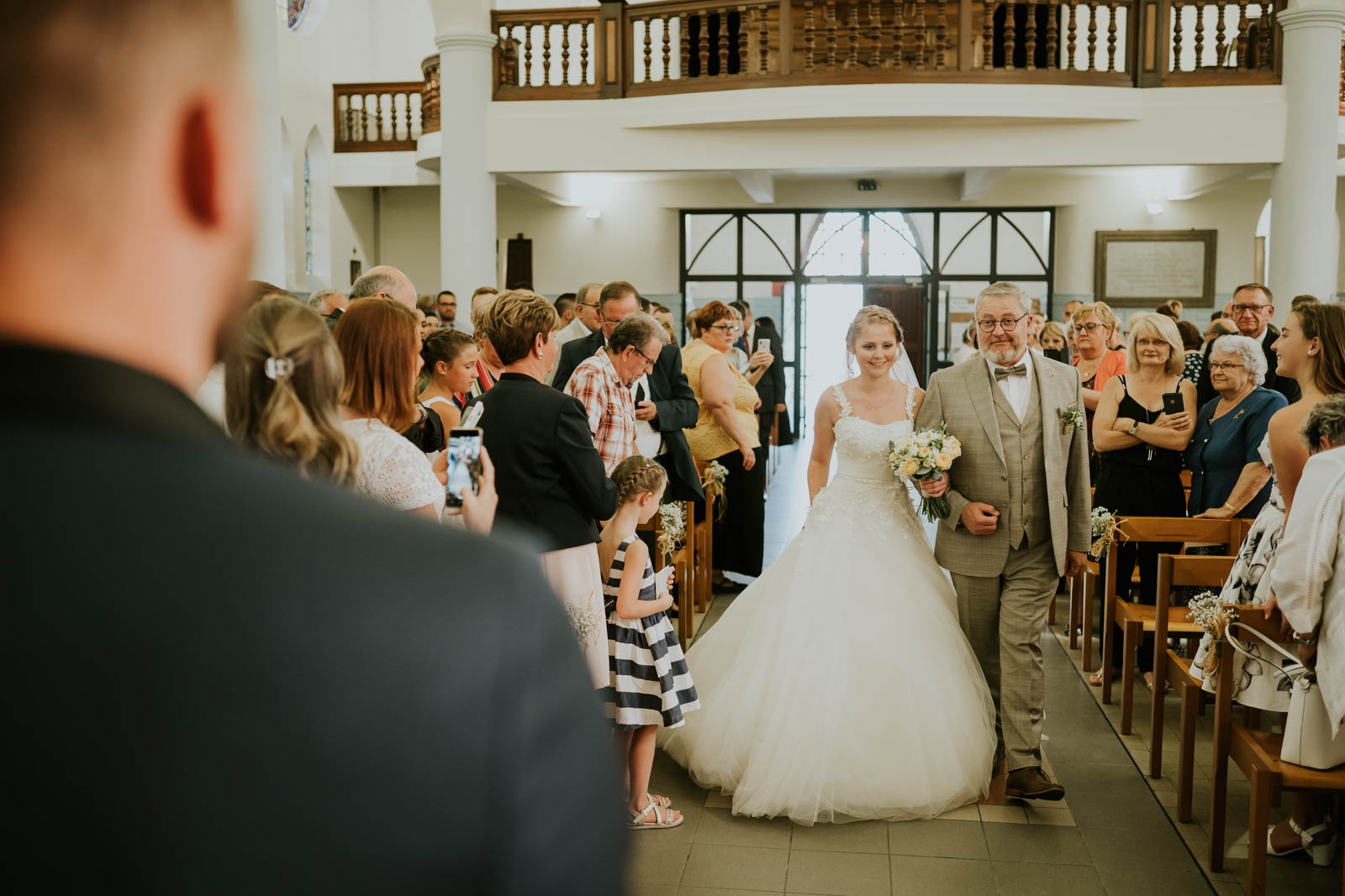 L'arrivée de la mariée…