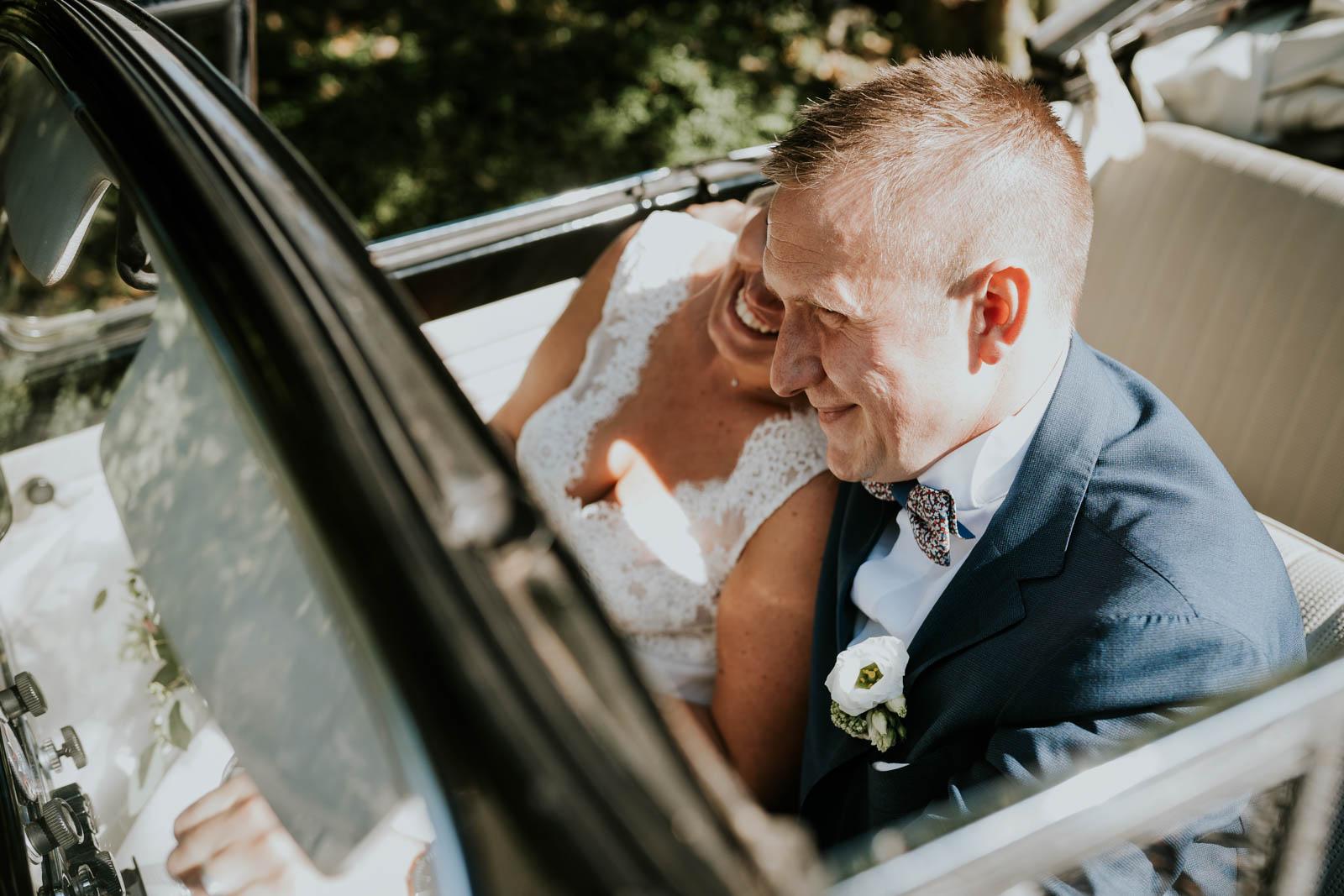 Arrivée au Château - photographe de mariage.