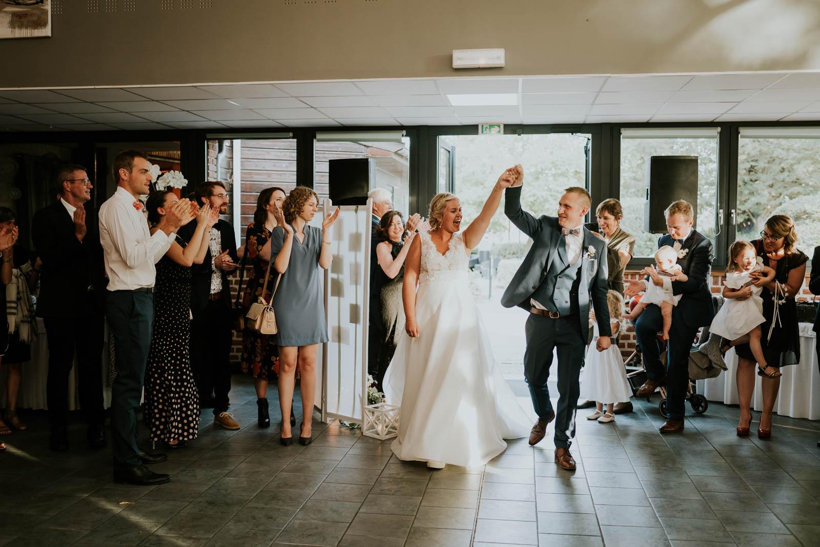 L'entrée des mariés !