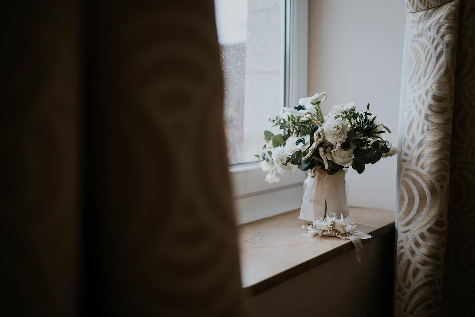 Bouquet de la mariée au Domaine de la Traxène…