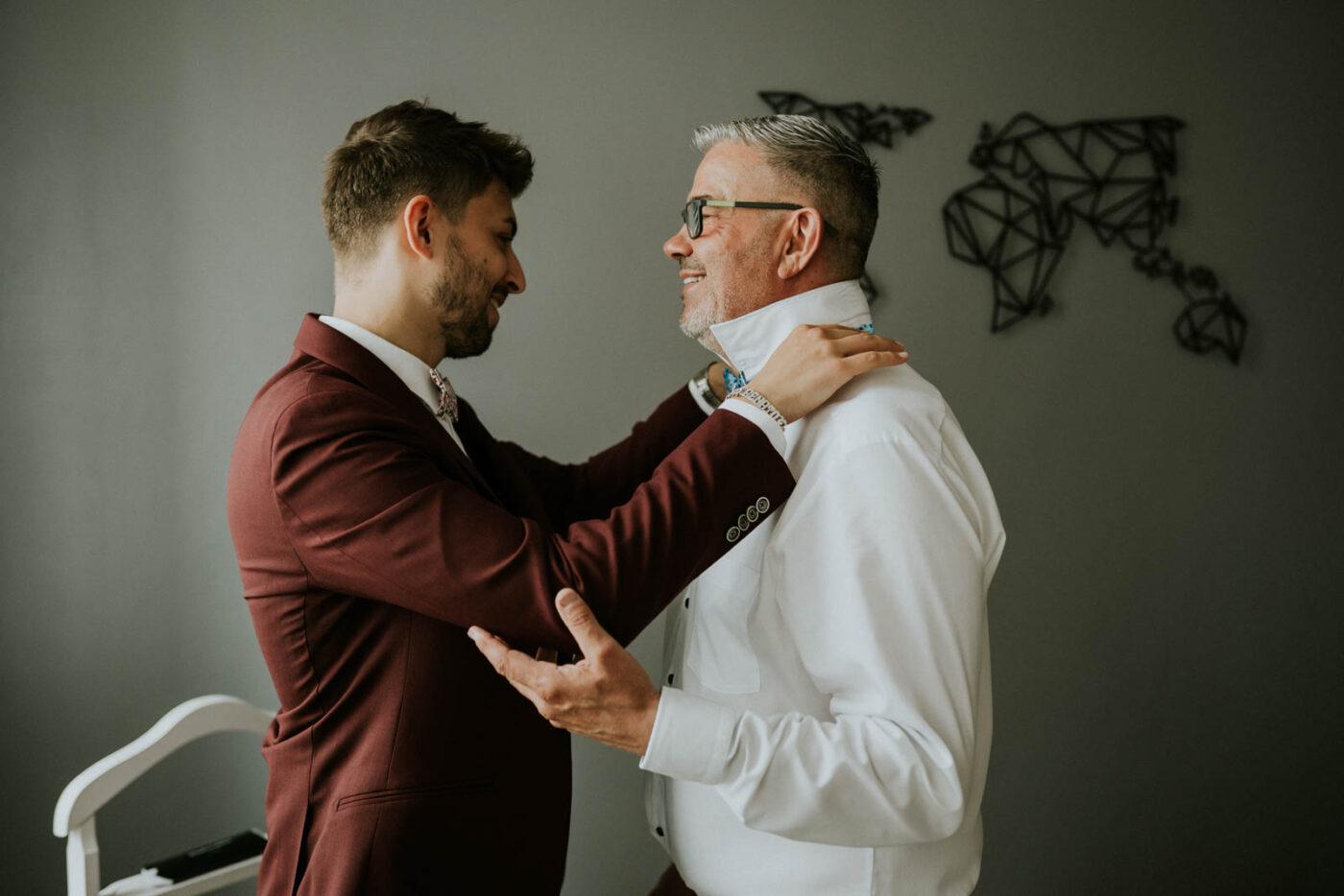 Le marié se prépare - Blandin Delhoye