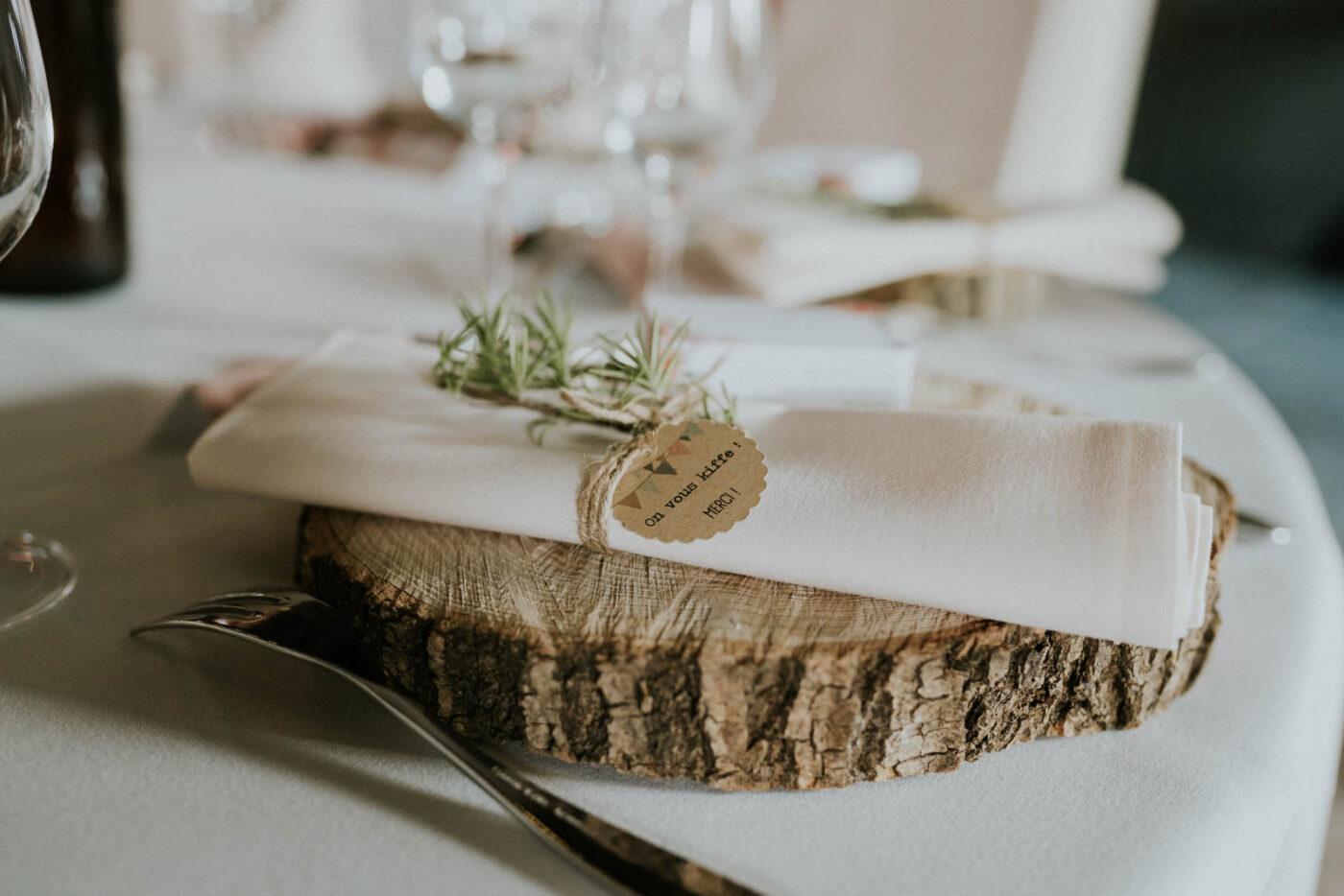 Décoration de la table des mariés - Carré du Hélin